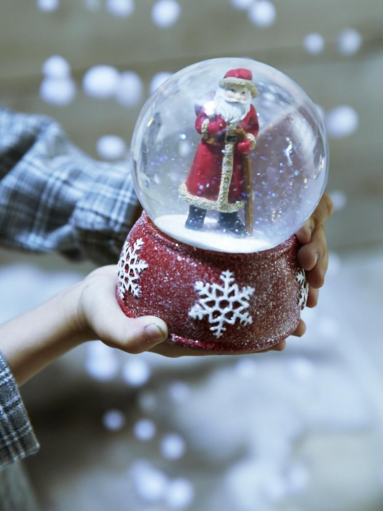 Father Christmas Snowglobe     Cox & Cox