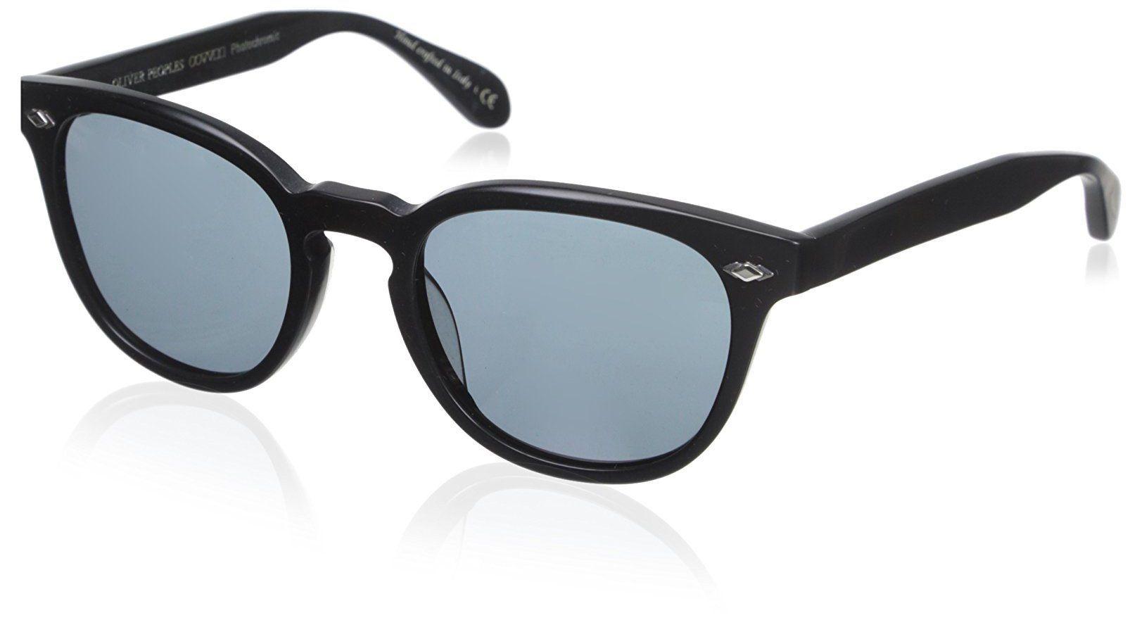 Oliver Peoples OV5315SU Unisex Sheldrake Plus Sunglasses, Semi Matte Black. OV5315SU; Case included.