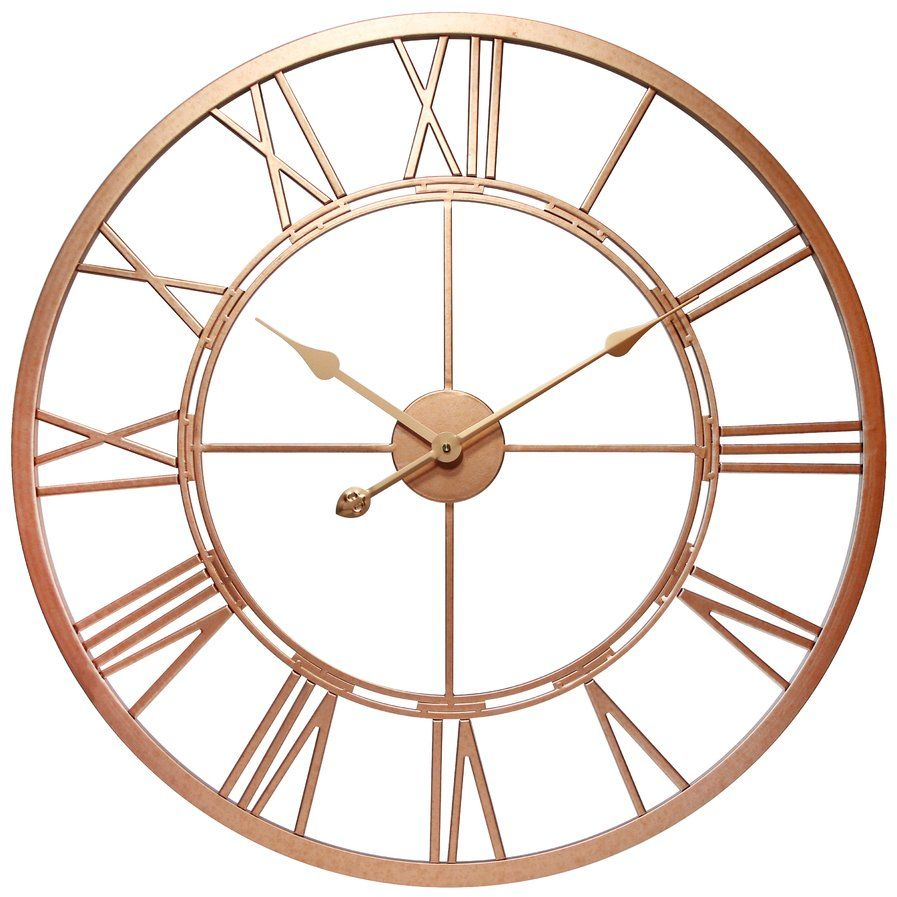 Oversized 28 Rose Gold Wall Clock Gold Wall Clock Wall Clock