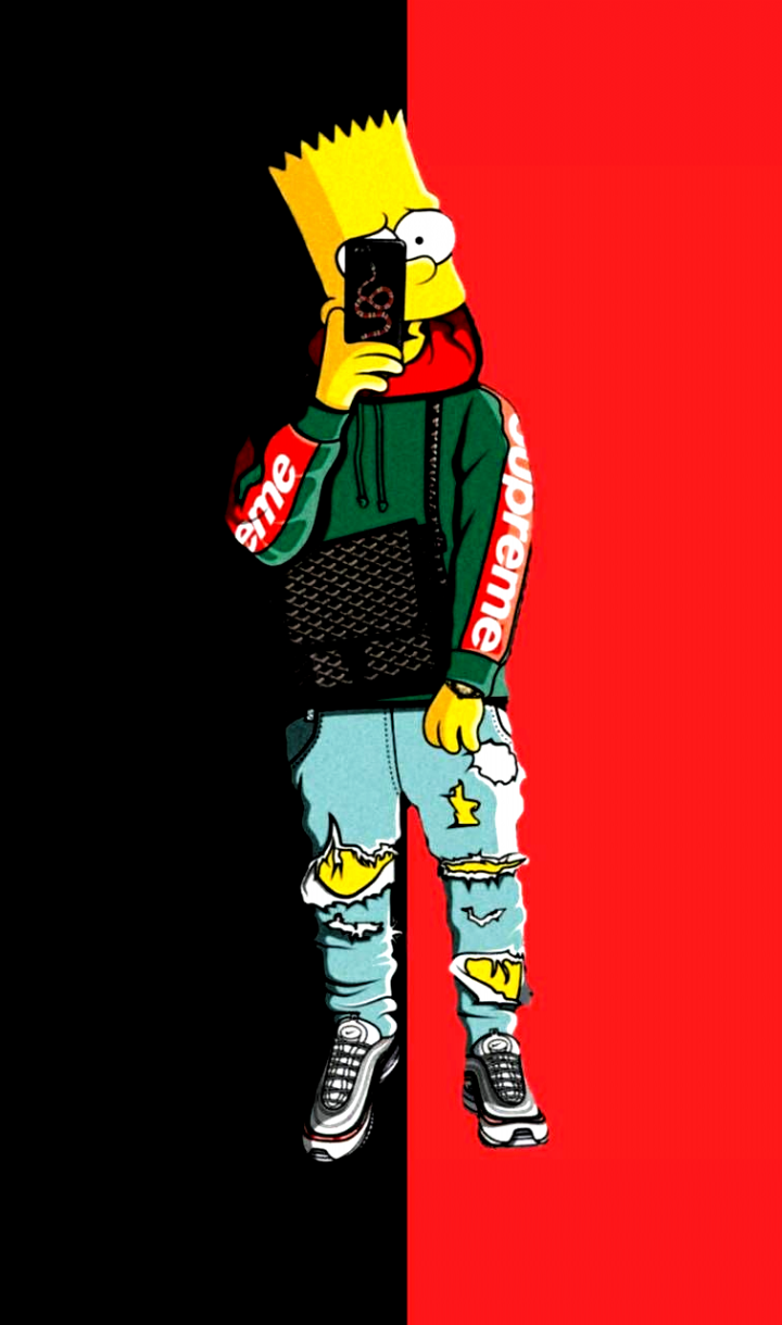Download Supreme Bart Wallpaper By Pdisorder F8 Free On Zedge Now Browse Millions Of Supreme Iphone Wallpaper Simpson Wallpaper Iphone Supreme Wallpaper