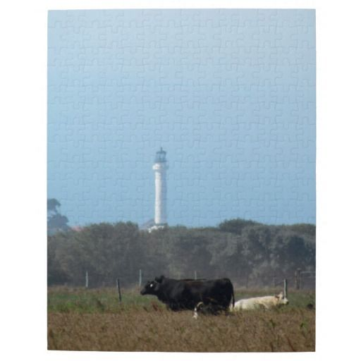 Puzzle - Lighthouse and cows