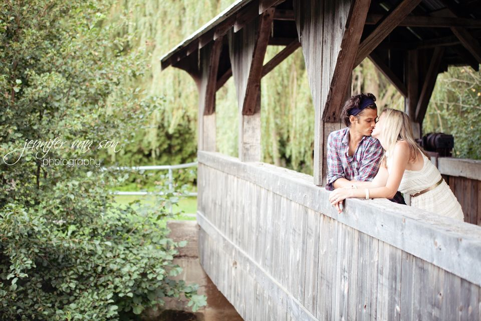 Engagement Photos, Covered Bridge, rustic engagement pictures  I had to pin this because I know these people.