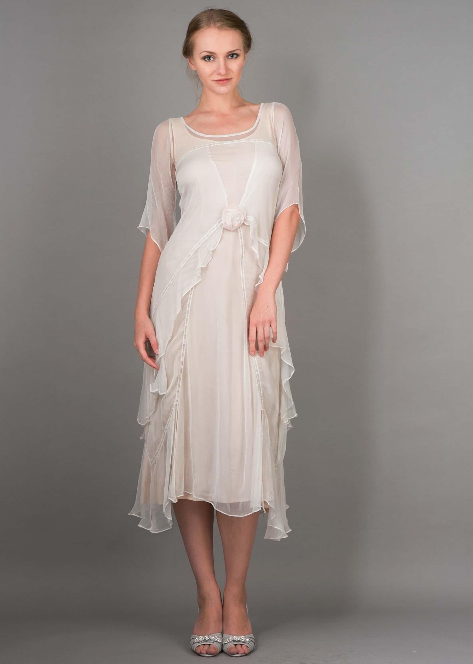 c0d39cdfdf9 Nataya 10709 1920s Wedding Dress in Ivory