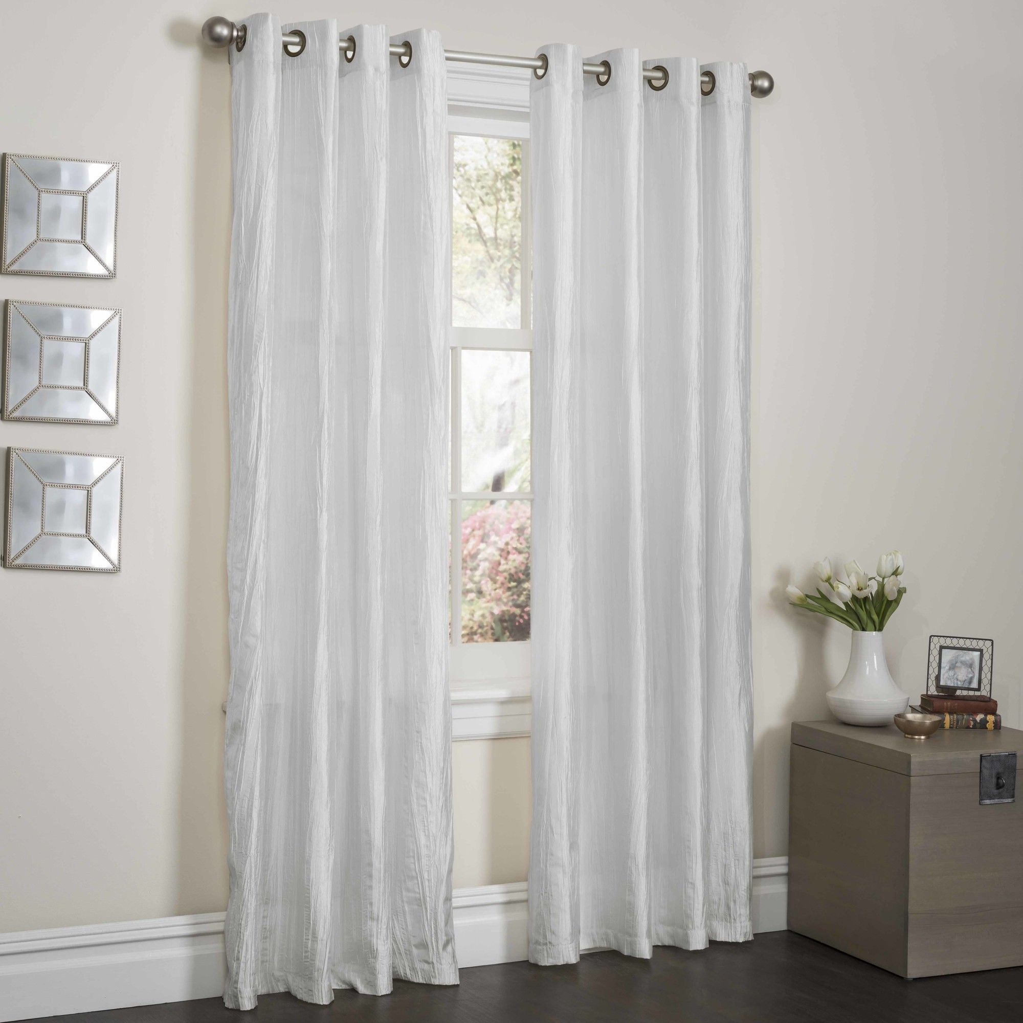 Sherry Crushed Satin Single Panel Curtain Products Satin
