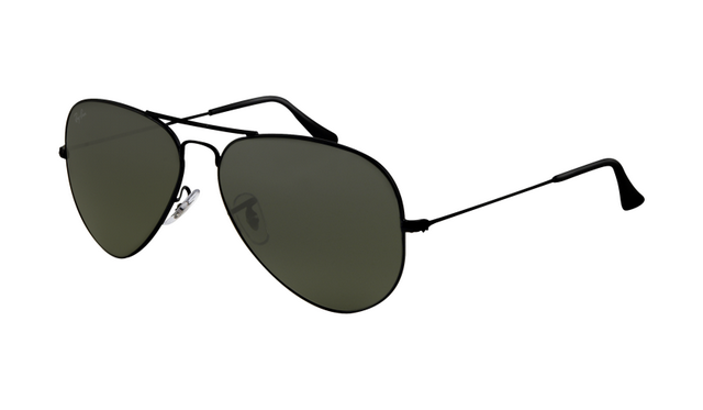 3f6029d4e8 Ray Ban RB3025 Aviator Sunglasses Black Frame Crystal Deep Green Lens