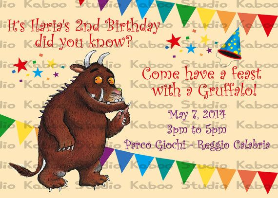 Printable Gruffalo Invitation Gruffalo Party 2nd Birthday Birthday Party