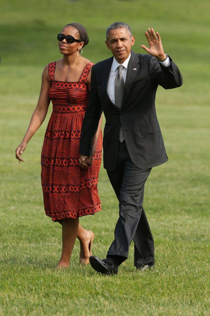 Michelle Obama loves print dresses, and so do we!