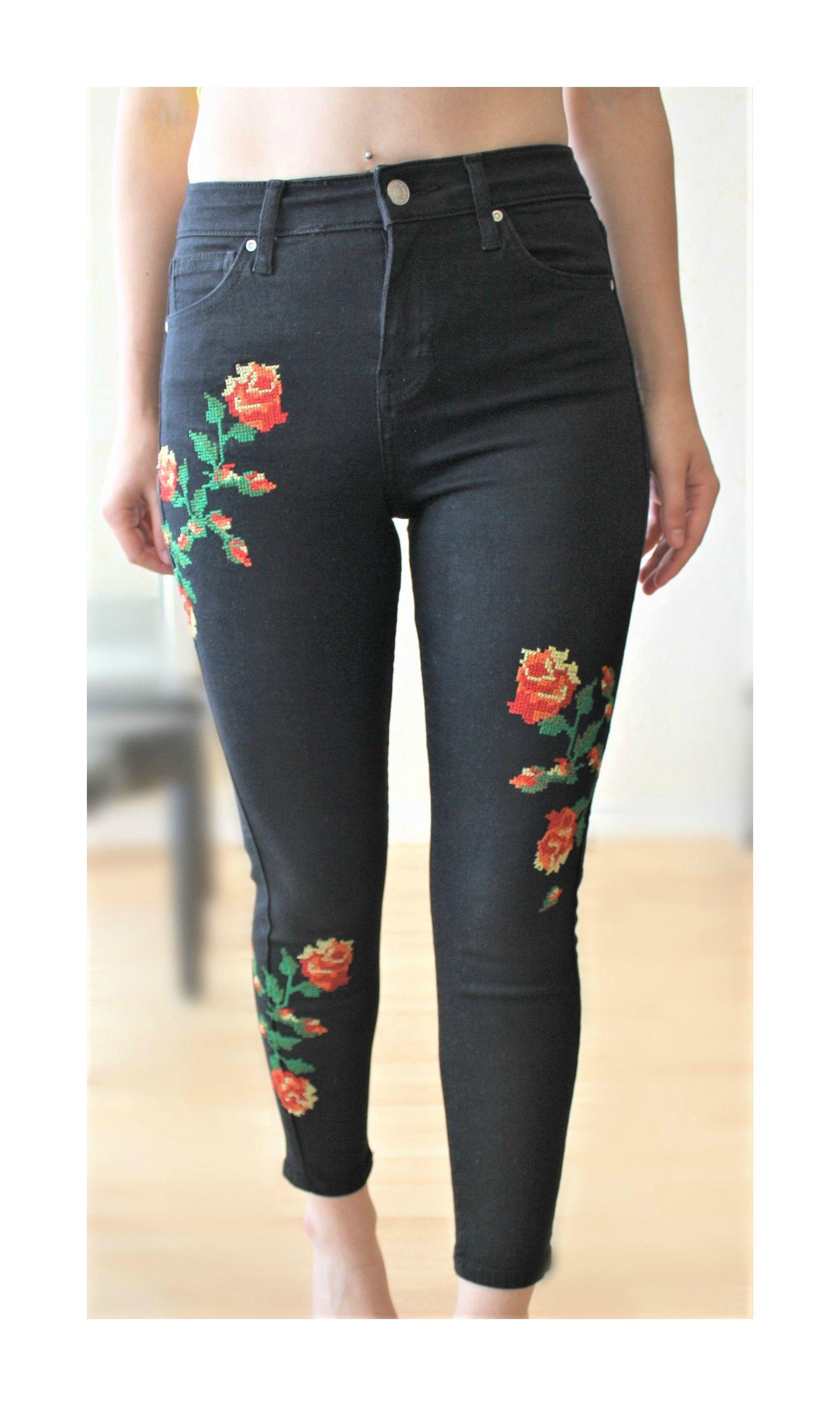 b3c90cf9d1d9 À vendre sur    vintedfrance  vinted  jeans  jean  jeanbroderie  broderie