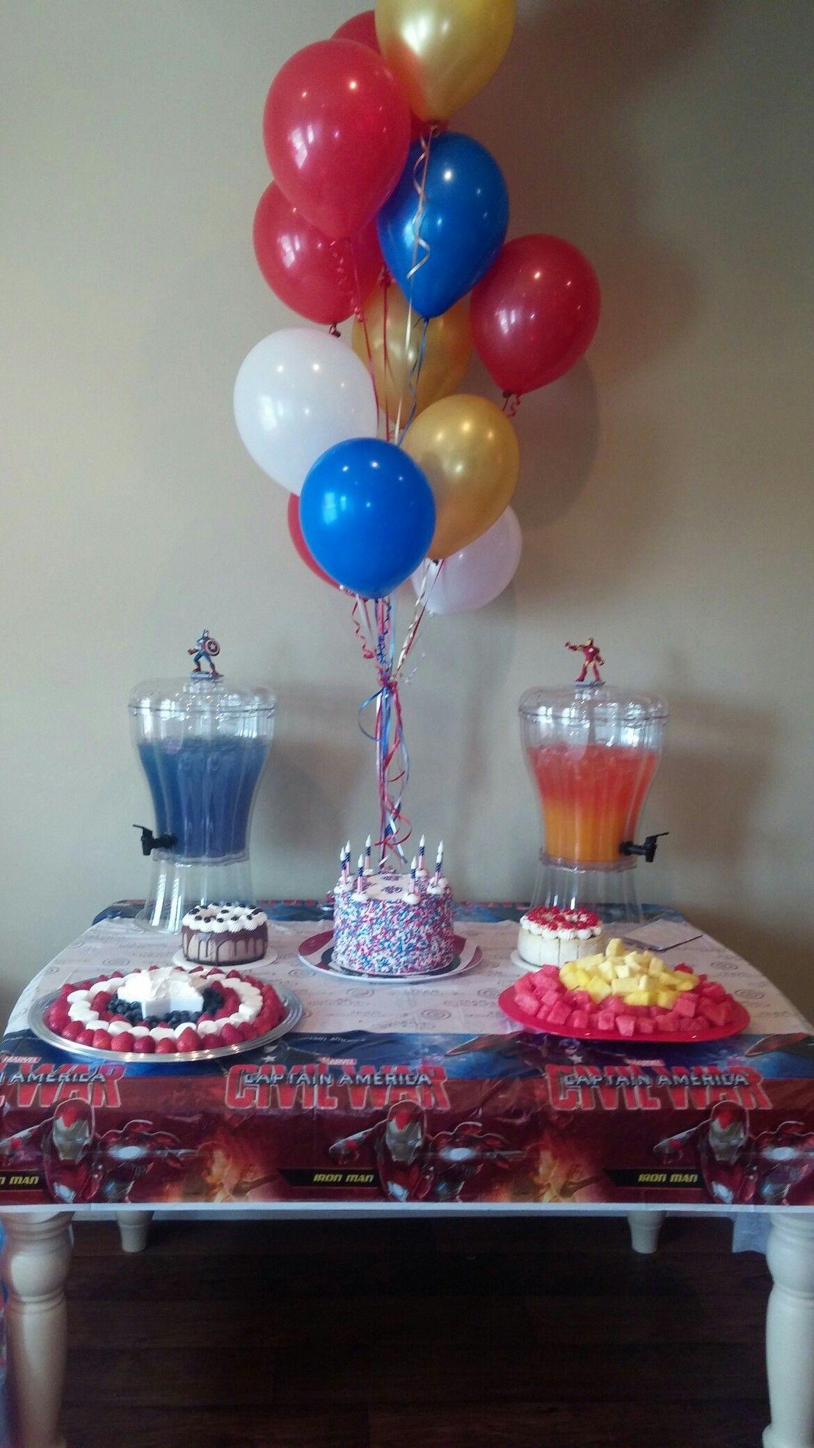 Captain America Civil War Birthday Party