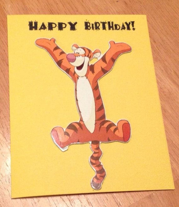 Tigger Birthday Card By Daisycreationsbyjess On Etsy Handmade