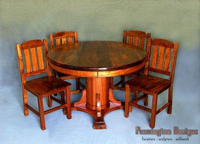 Custom Koa Dining Set By Maui Koa Furniture