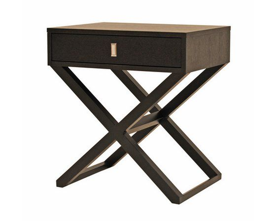 high gloss finish cross leg nightstand photo detailed
