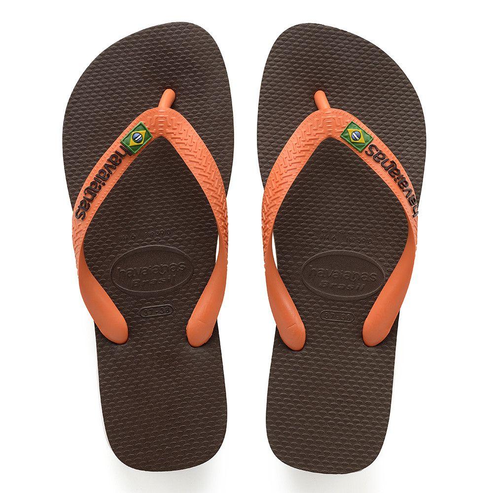 9151998cd Flip Flops · Havaianas Brazil Logo Sandal Drk Brwn Orange Price From   ₩27