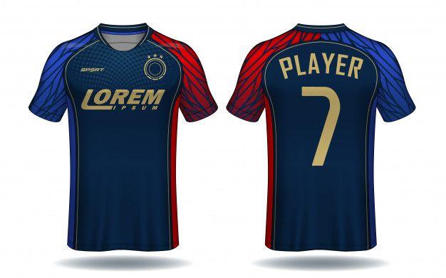 Soccer Jersey Template Sport T Shirt De Premium Vector