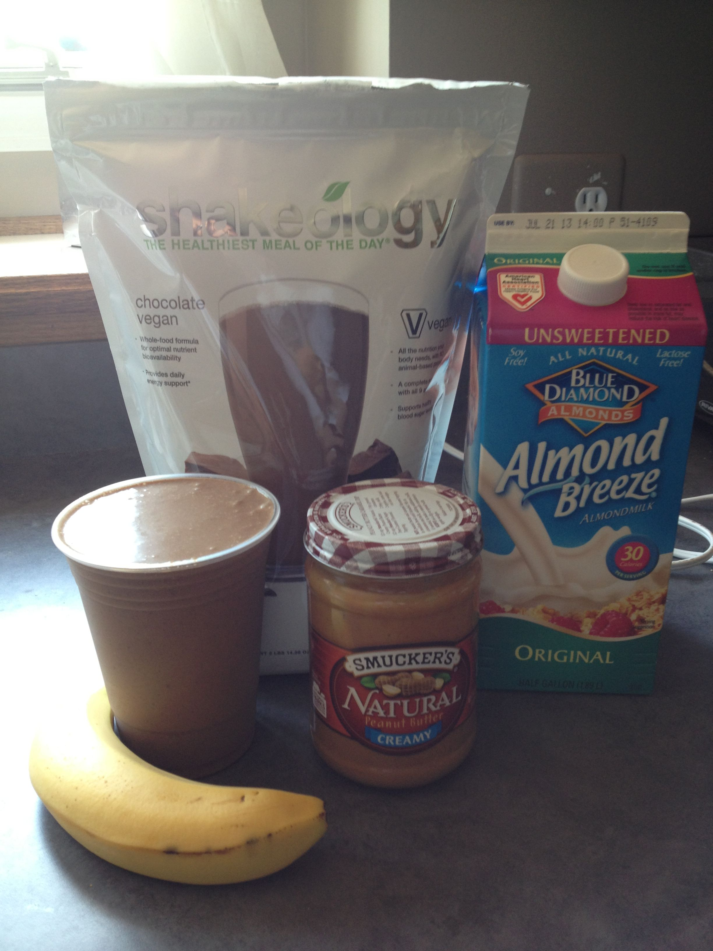 My favorite Shakeology recipe. One scoop vegan chocolate ...