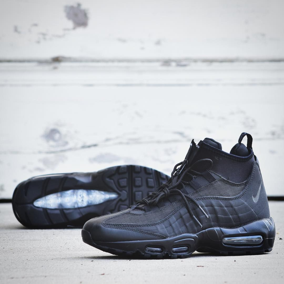 super popular 56121 3c193 Nike Air Max 95 Sneakerboot  Midnight Black