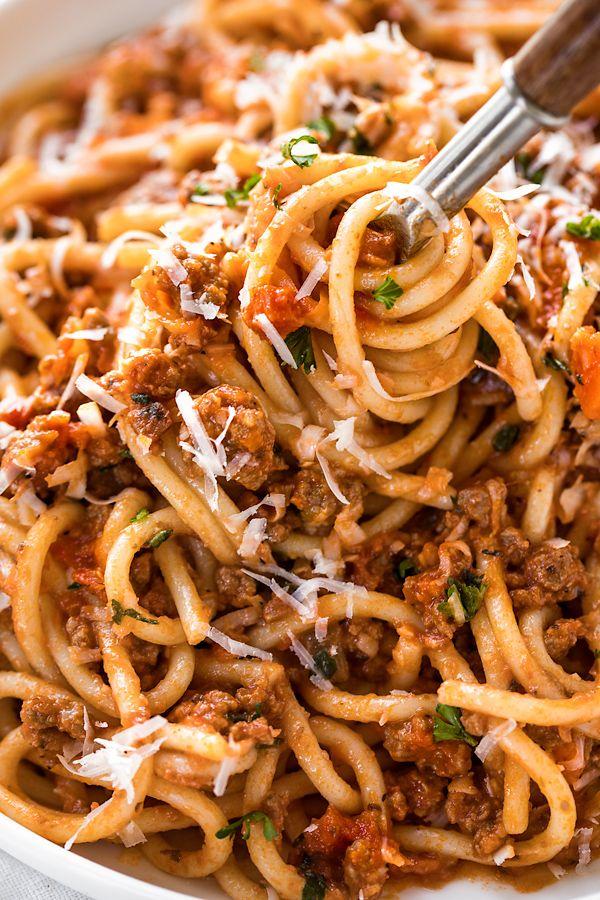 Spaghetti Bolognese Opskrift Madopskrifter Aftensmad Og Italiensk Mad