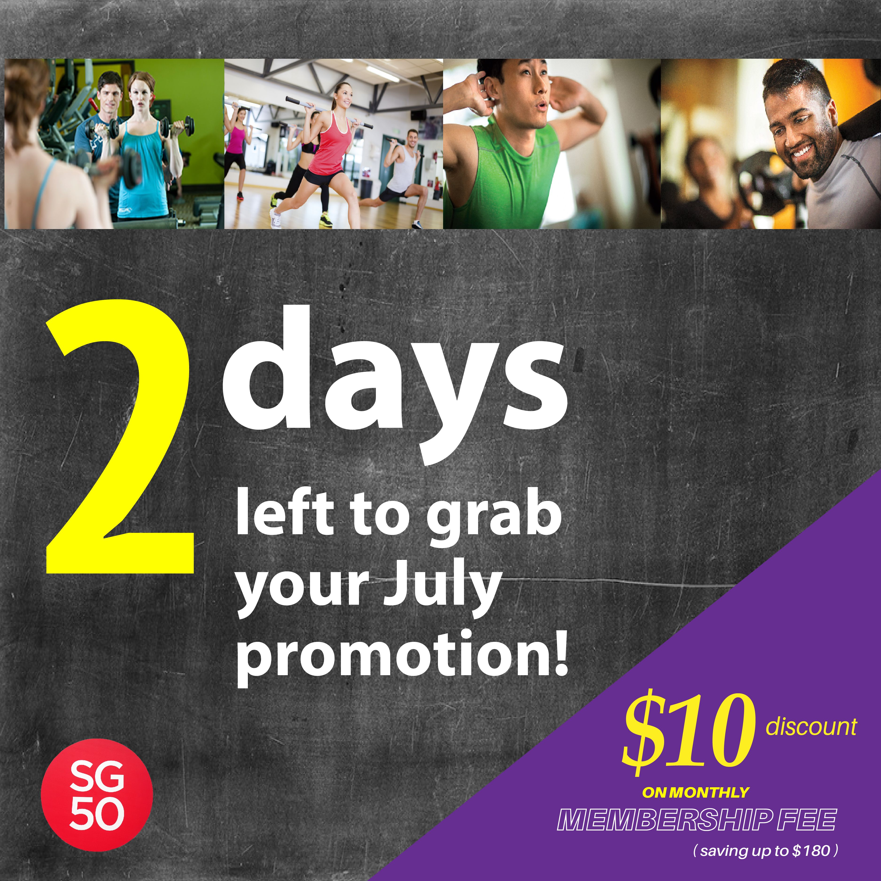 Hurry Down Last 2 Days Left Aftamp Sg50 Anytime Fitness Tampines Day Left