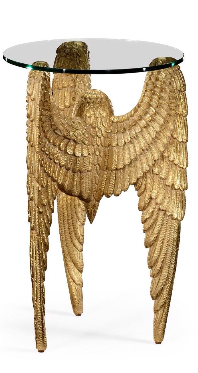 Instyledecor gold angel wing table luxurydotcom dream scape