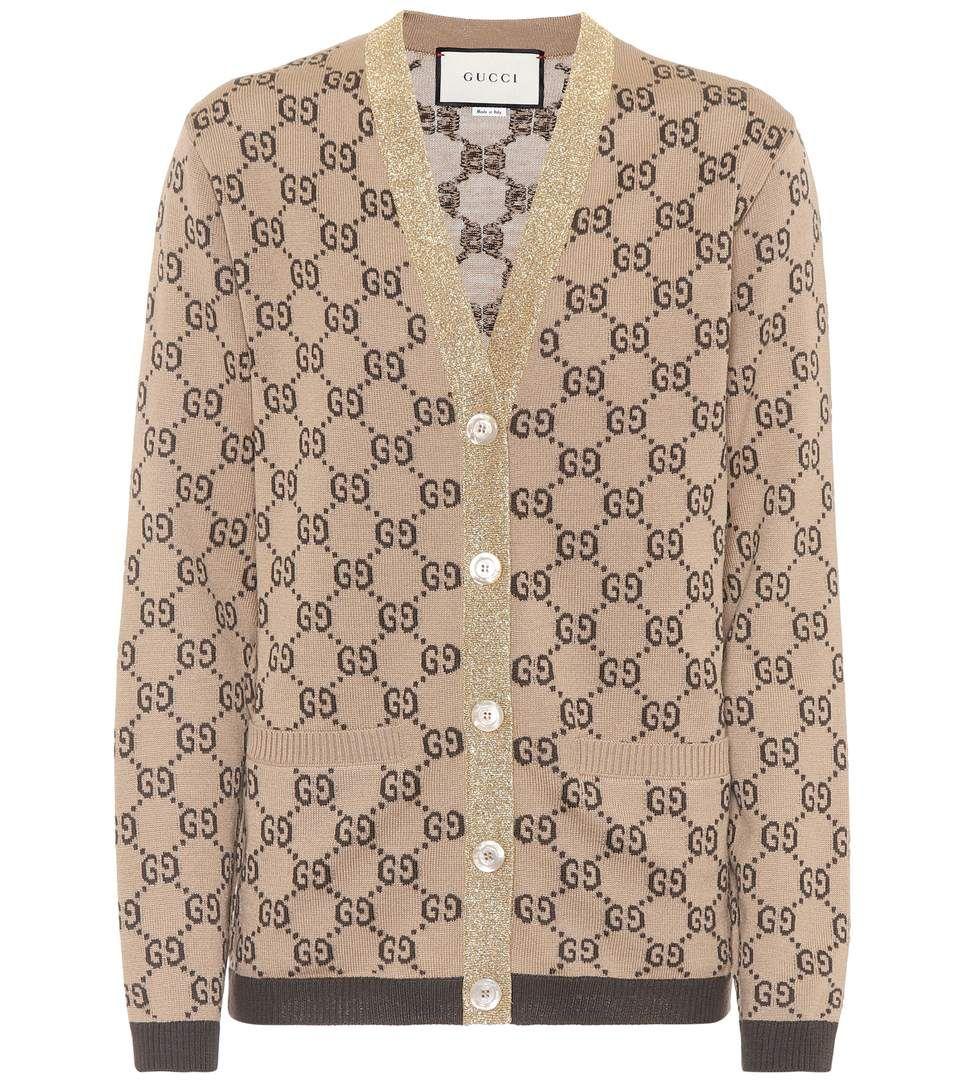 ede7ca680 GUCCI GG jacquard wool cardigan. #gucci #cloth # | Gucci in 2019 ...