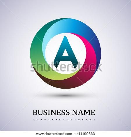 A letter colorful logo in the circle Vector design template - project manager spreadsheet templates