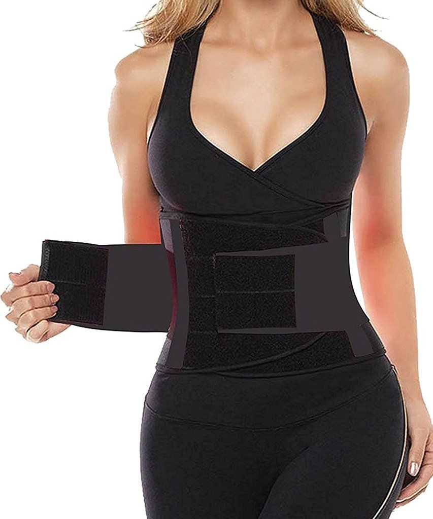 Výsledok vyhľadávania obrázkov pre dopyt Lumbar Back Waist Support Brace Belt Hot Waist Training Corset Back Fitness Women Waist Support Sweat Slim Belt 2018 Hot Sale