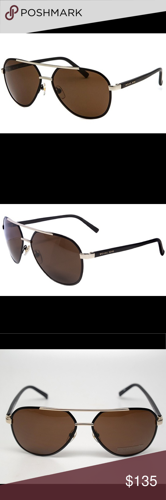 40d67b80f182 Michael Kors Sunglasses M2474S TRISTAN Black Authentic Michael By Micheal  Kors. The Michael Kors M2474S