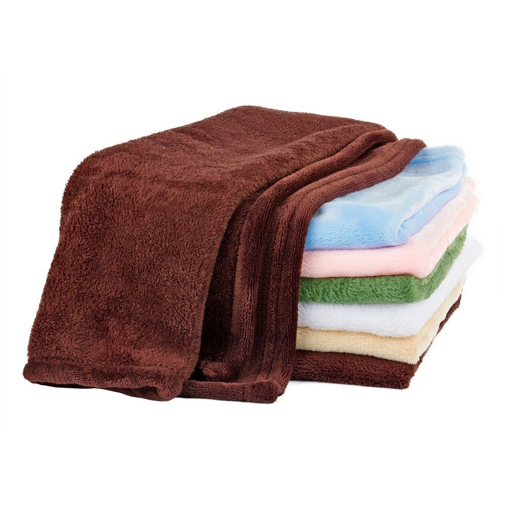 Fleece vs flannel  Pet towel Soft FlannelConvenient Brightly Colored Towels