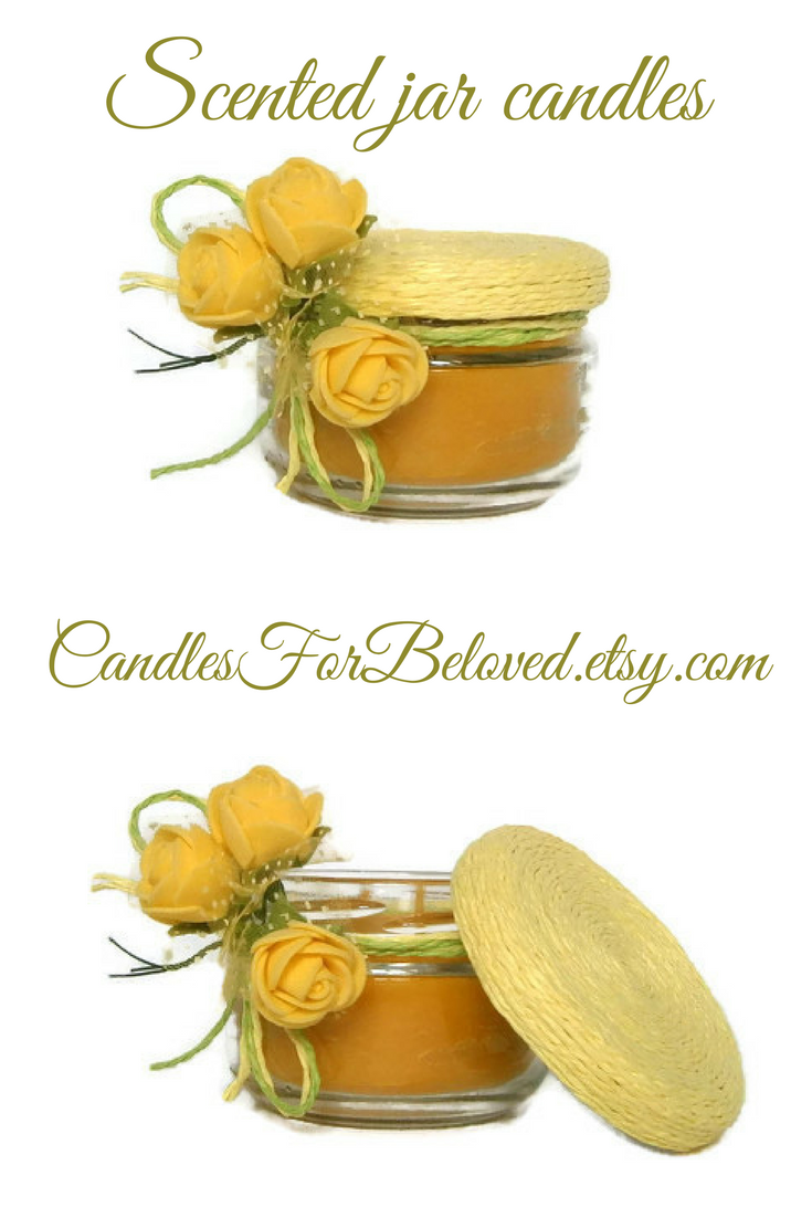 Beeswax candle decor tropical lemon scented candle mason jar candles