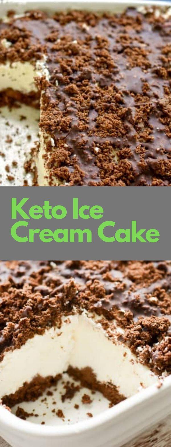 Keto Ice Cream Cake #CAKE #keto #ketoicecream