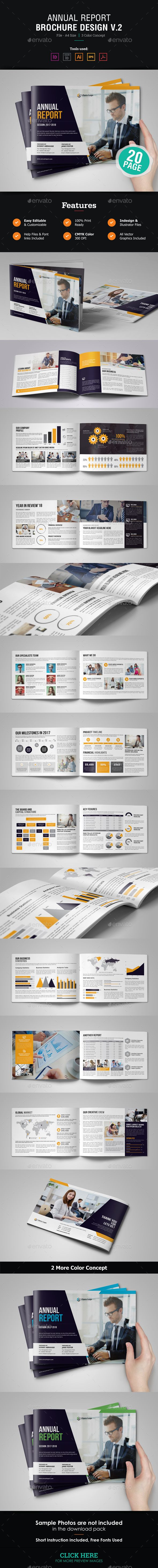 Annual Report Brochure Template Vector EPS, InDesign INDD, AI ...