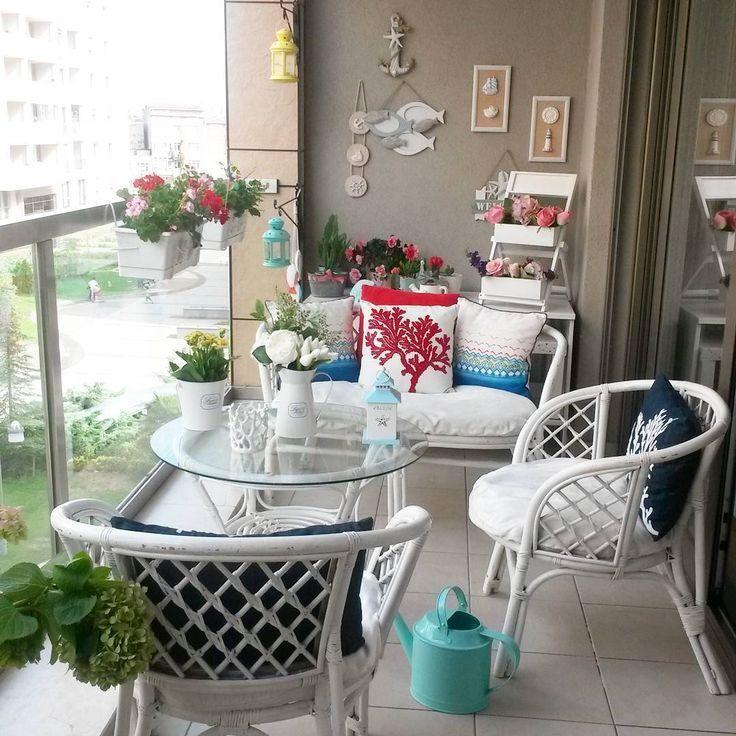 748 Likes, 29 Kommentare - Ayşegül şahin .sunum .dekor (@ aysegulsahin03) on Ins ... # aysegulsahin03 #comments #decor #likes #sunum - Balcony Decoration #balconycurtains