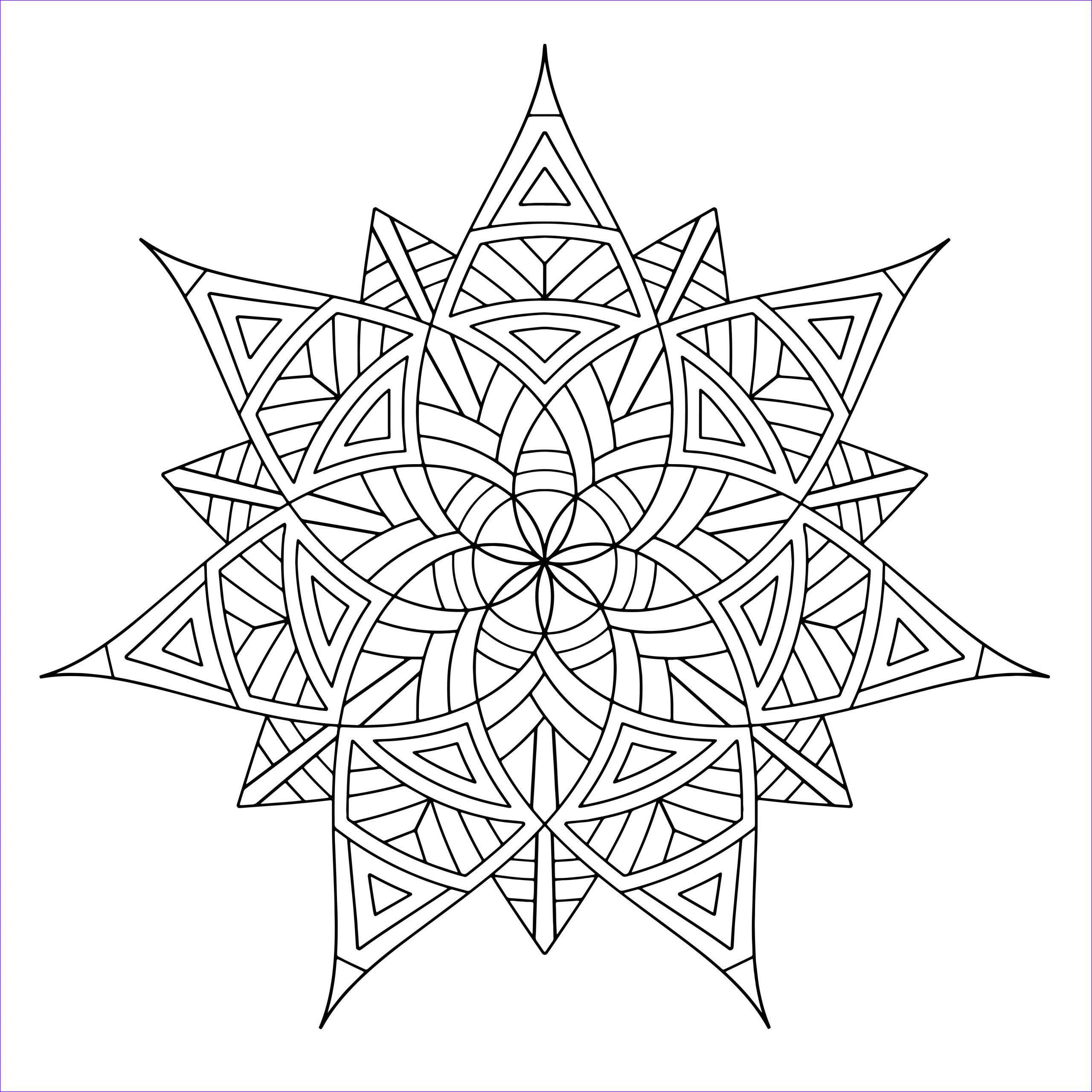 Free Printable Geometric Coloring Pages For Adults In 2020 Geometric Coloring Pages Mandala Coloring Pages Pattern Coloring Pages