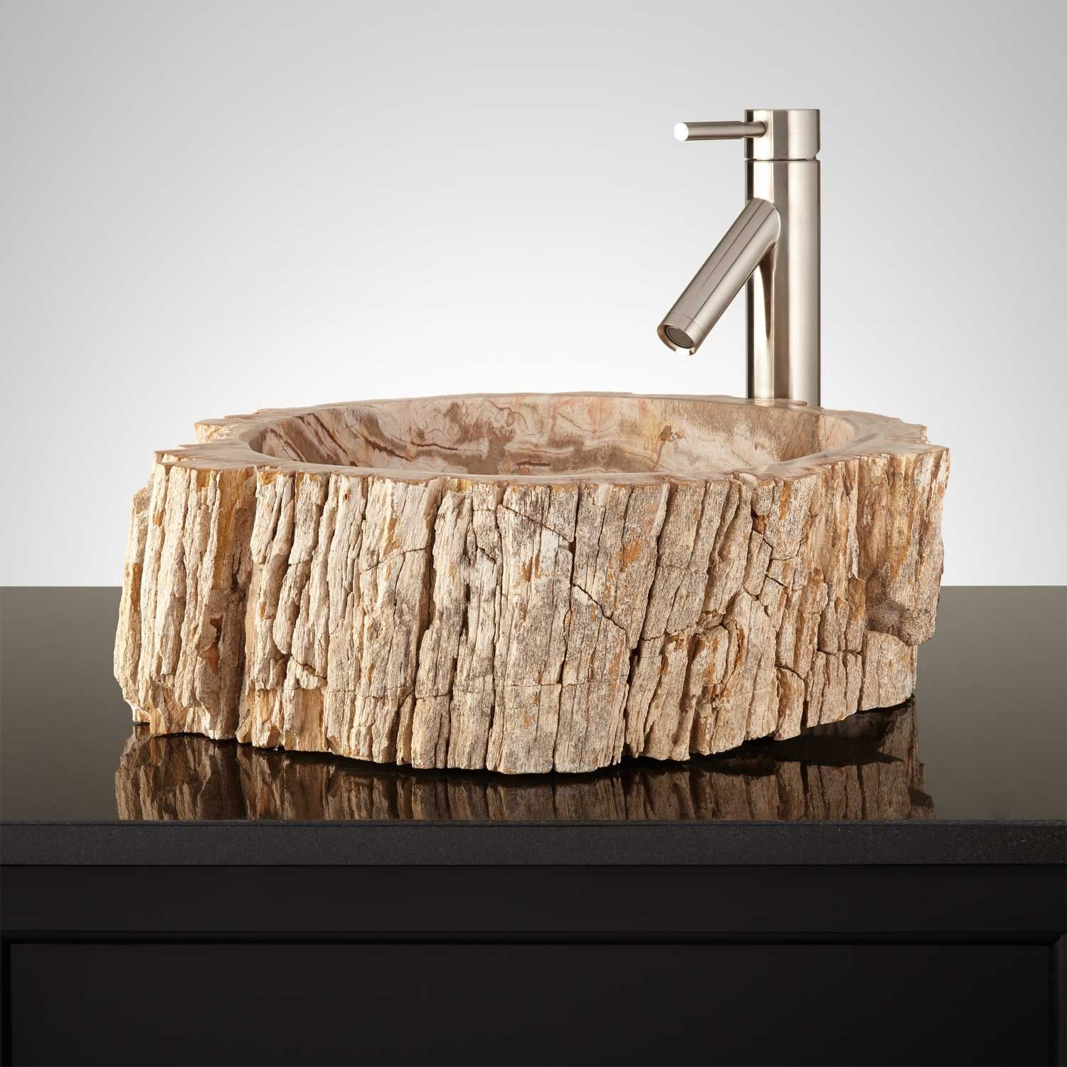 Great Mantoya Petrified Wood Vessel Sink