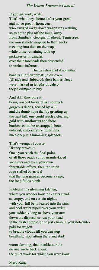 Mary Karr Poems 3
