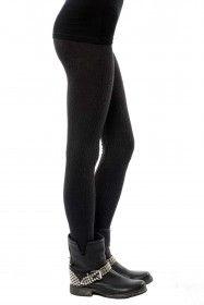Chord knit leggings in SMOKE - by #OneGreyDay - $88