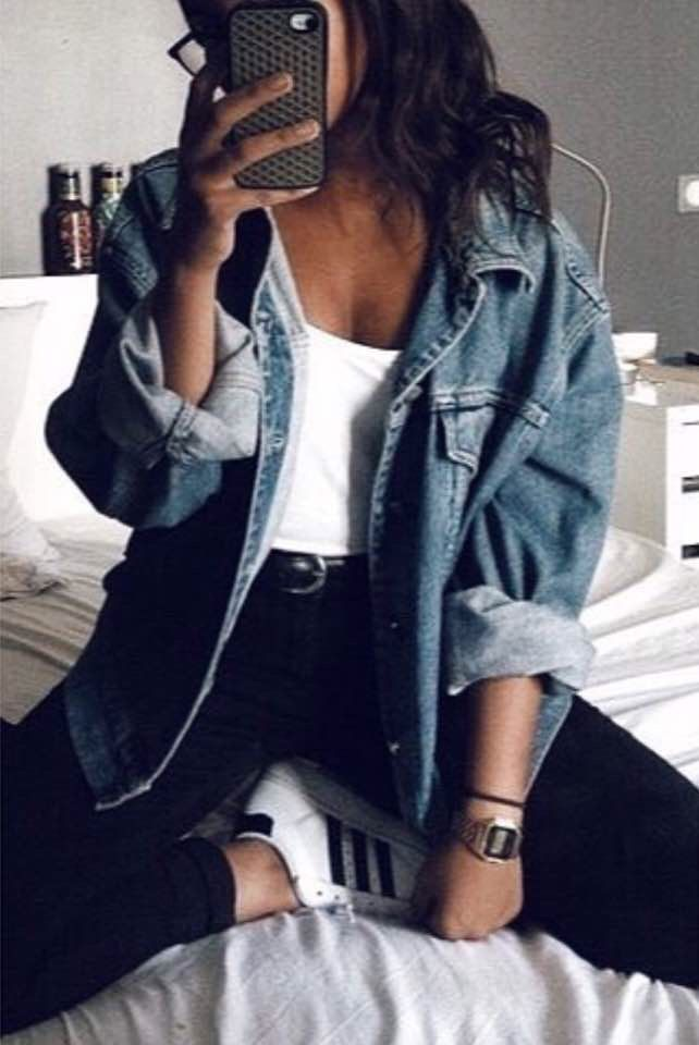 Denim Pieces  #jeanjacketoutfits