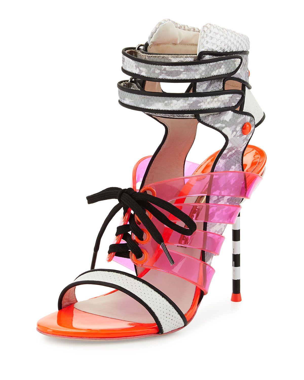 3a90a8c9c296 Sophia Webster Jourdan Jelly Lace-Up Sandal