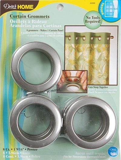 Dritz Home Pewter Grommets Plastic 1 9 16 Grommet Curtains