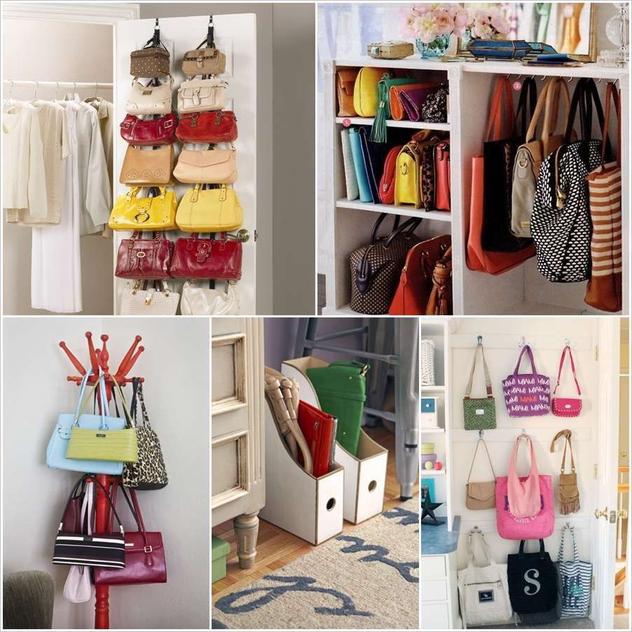2303cb4efa3 clever handbag storage ideas and solutions within purse storage ideas  Organized and Functional  Fun Purse Storage Ideas