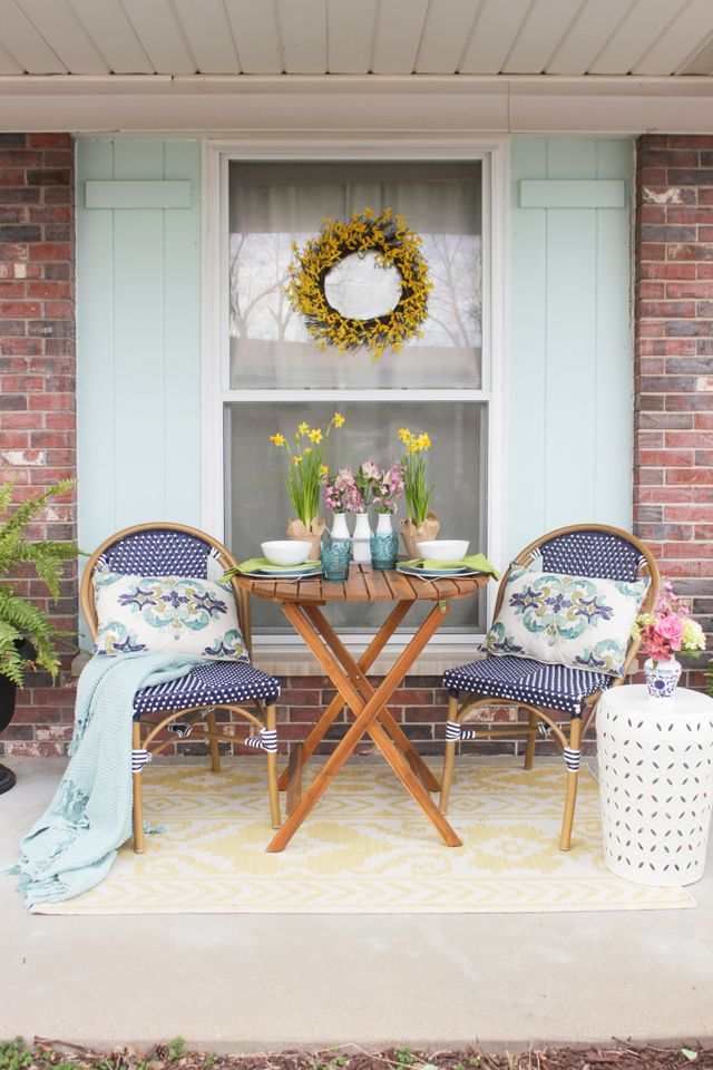 Spring Porch Refresh Spring Porch Decor Patio Furnishings Front Porch Decorating