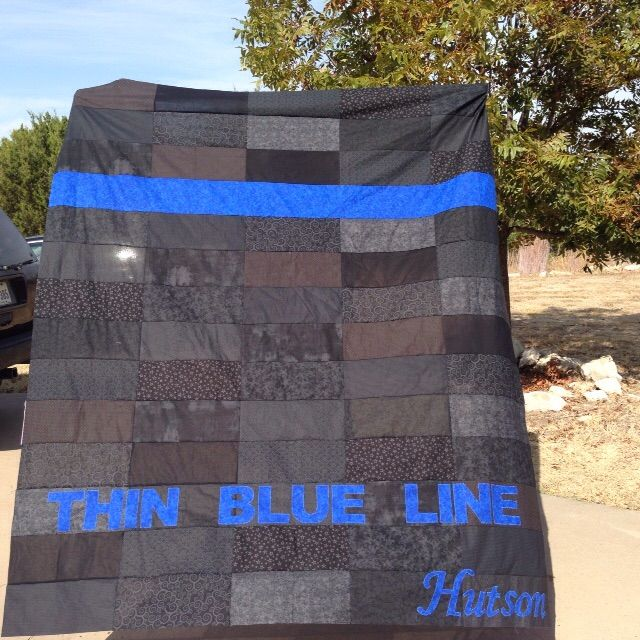 Thin Blue Line Quilt Quilts I Ve Made Thin Blue Lines