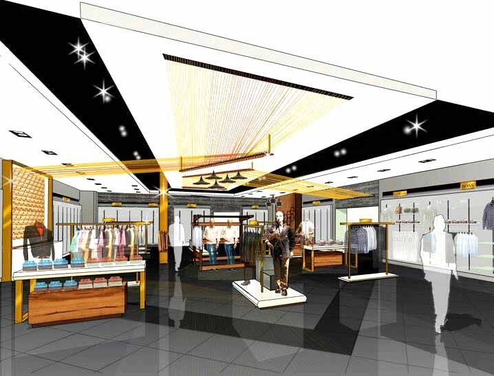 Business flesh retail store rendering croquis interiores pinterest interior and architectural sketches also rh