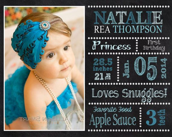 First Birthday Picture Chalkboard  ANY age  by BellaDreamDesigns, $25.00