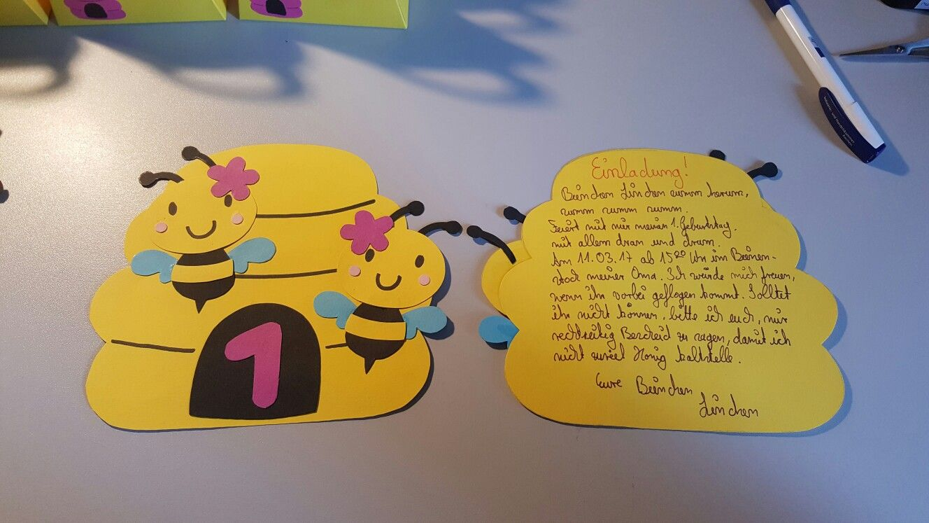 ordinary biene maja einladungskarten #1: Bienen Geburtstag Einladung