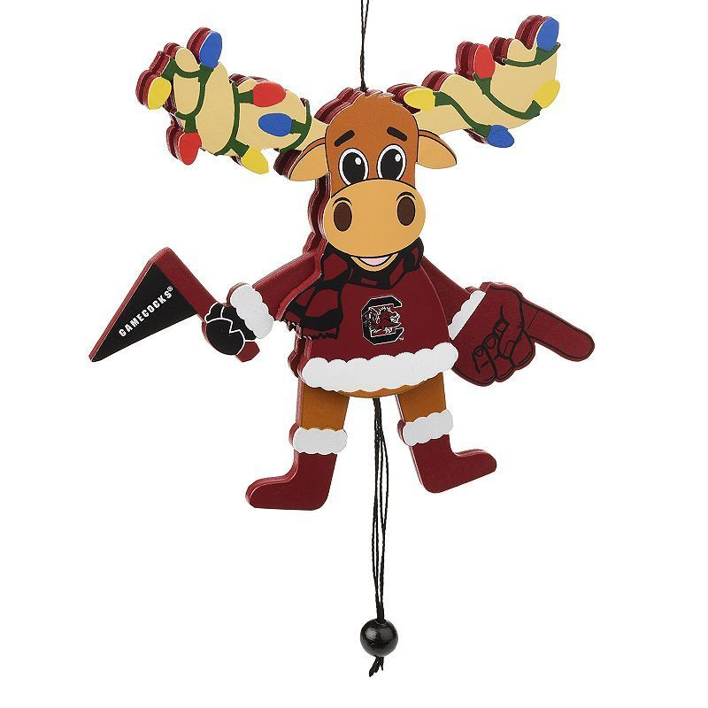 Forever Collectibles South Carolina Gamecocks Wooden Moose Christmas - moose christmas decorations