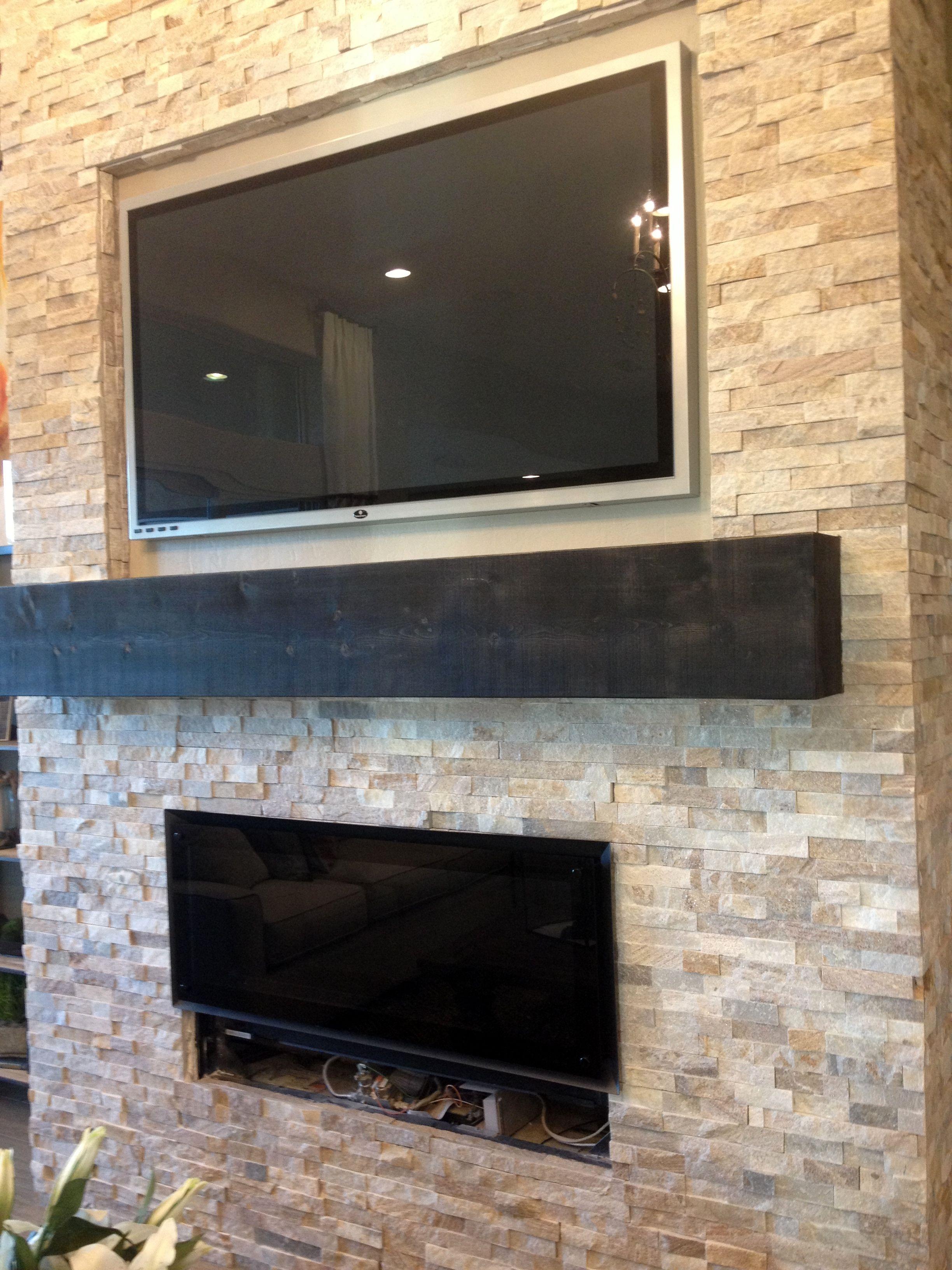 A quartz rock entertainmentfireplace wall fireplaces pinterest