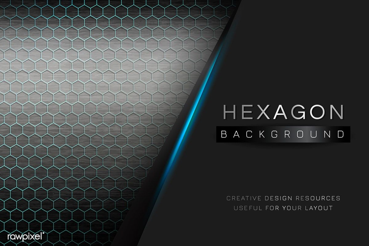 Blue Hexagon Background Design Vector Free Image By Rawpixel Com Kappy Kappy