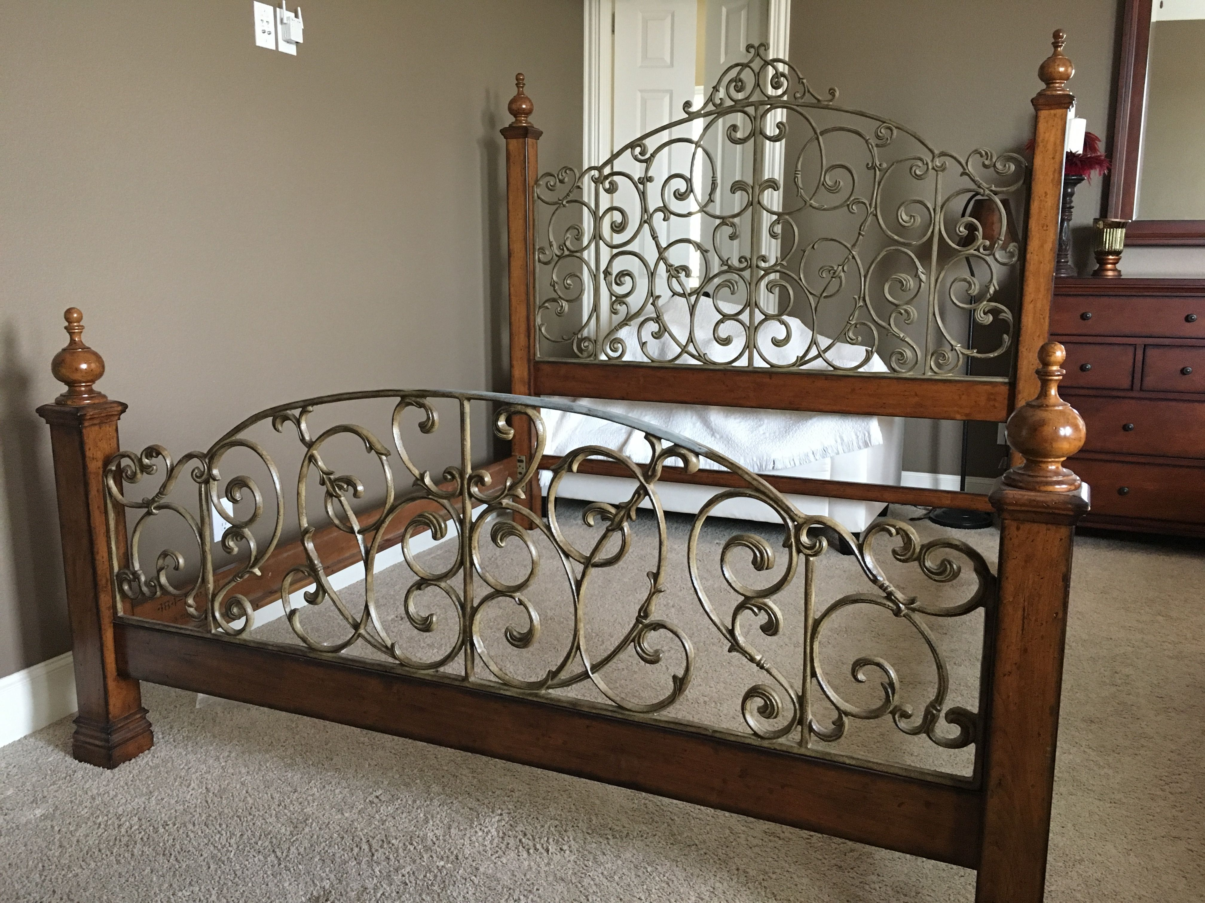 Love This Wood Metal Bed Bedroom Furniture Design Master Bedrooms Decor Wooden Bed Design