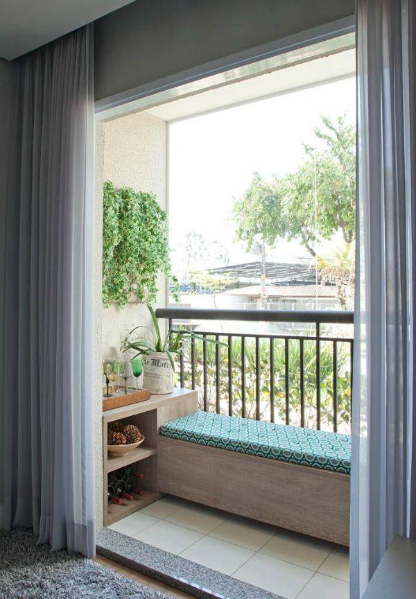Decoração de sacada pequena Balcones, Apartamentos y Sala de estar - decoracion de terrazas pequeas